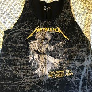 Metallica Band cut off tee